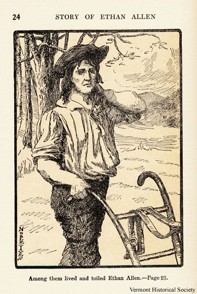 This illustration shows Ethan Allen as a farmer. The Story of ...