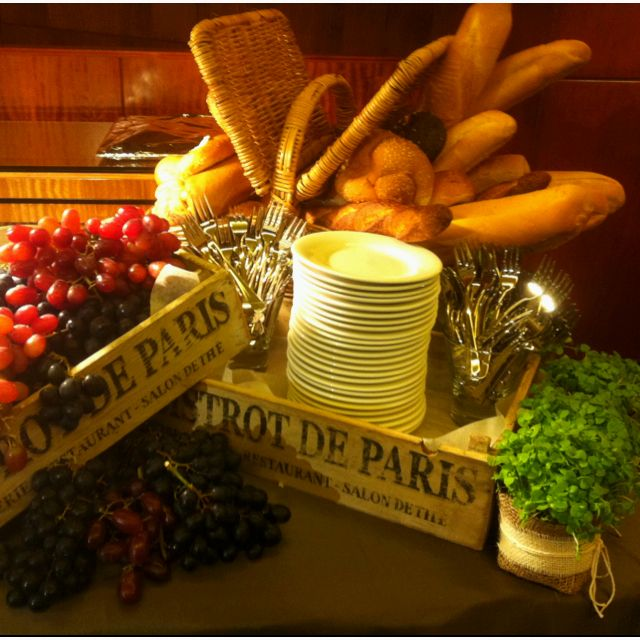 Wedding Food Stations Ideas: French Food Station At A Wedding I Styled