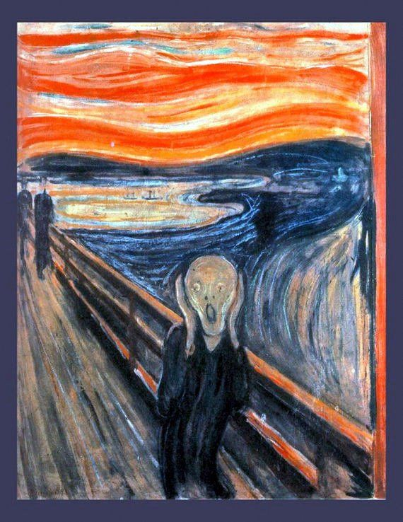 Edvard Munch, The Scream of Nature, 1893, Orange Sky