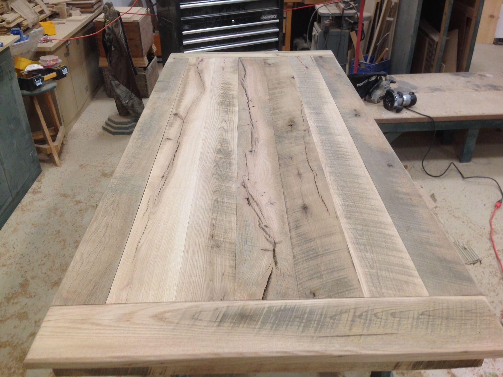 reclaimed 2 oak bread board ends kitchen gathering table made