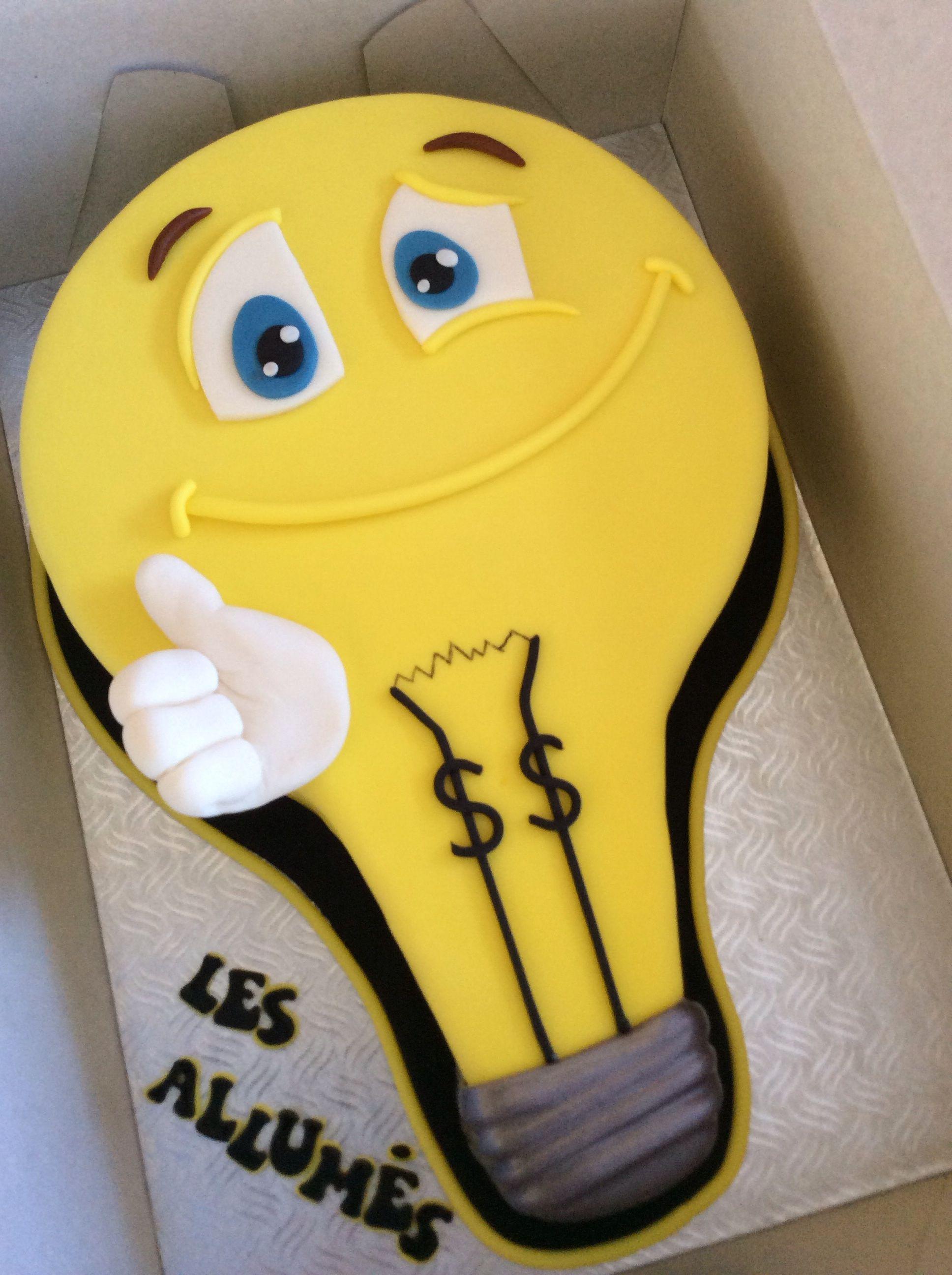 Light Bulb Cake Novelty Birthday Cakes Electronics Cake