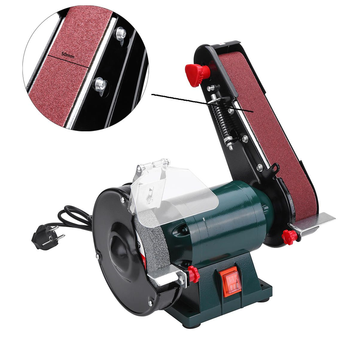 6 Inch 150mm Bench Grinder Belt Sander Sharpener Linisher Electric Sanding Grinding Machine In 2020 Grinding Machine Belt Sander Bench Grinder