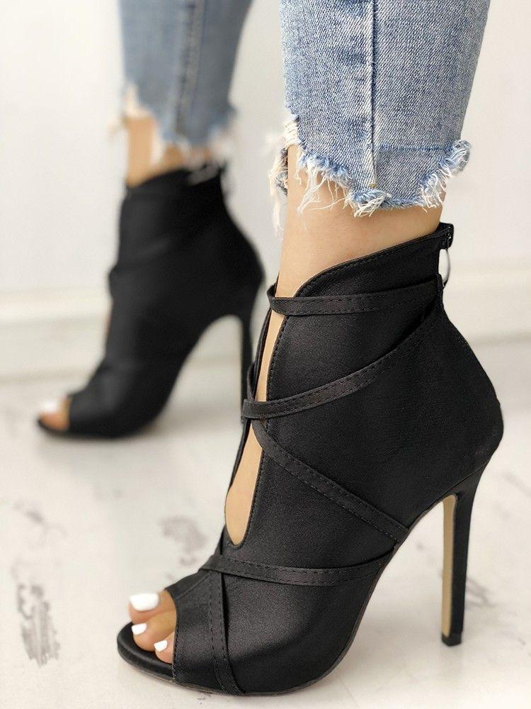 womens peep toe shoe boots