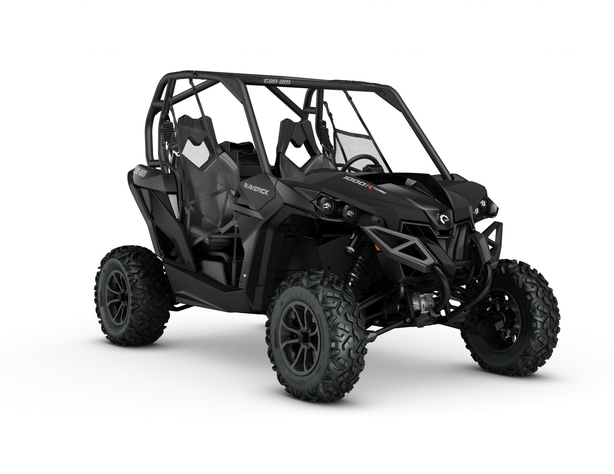 2017 Maverick 1000R TURBO Triple Black 3 4 front