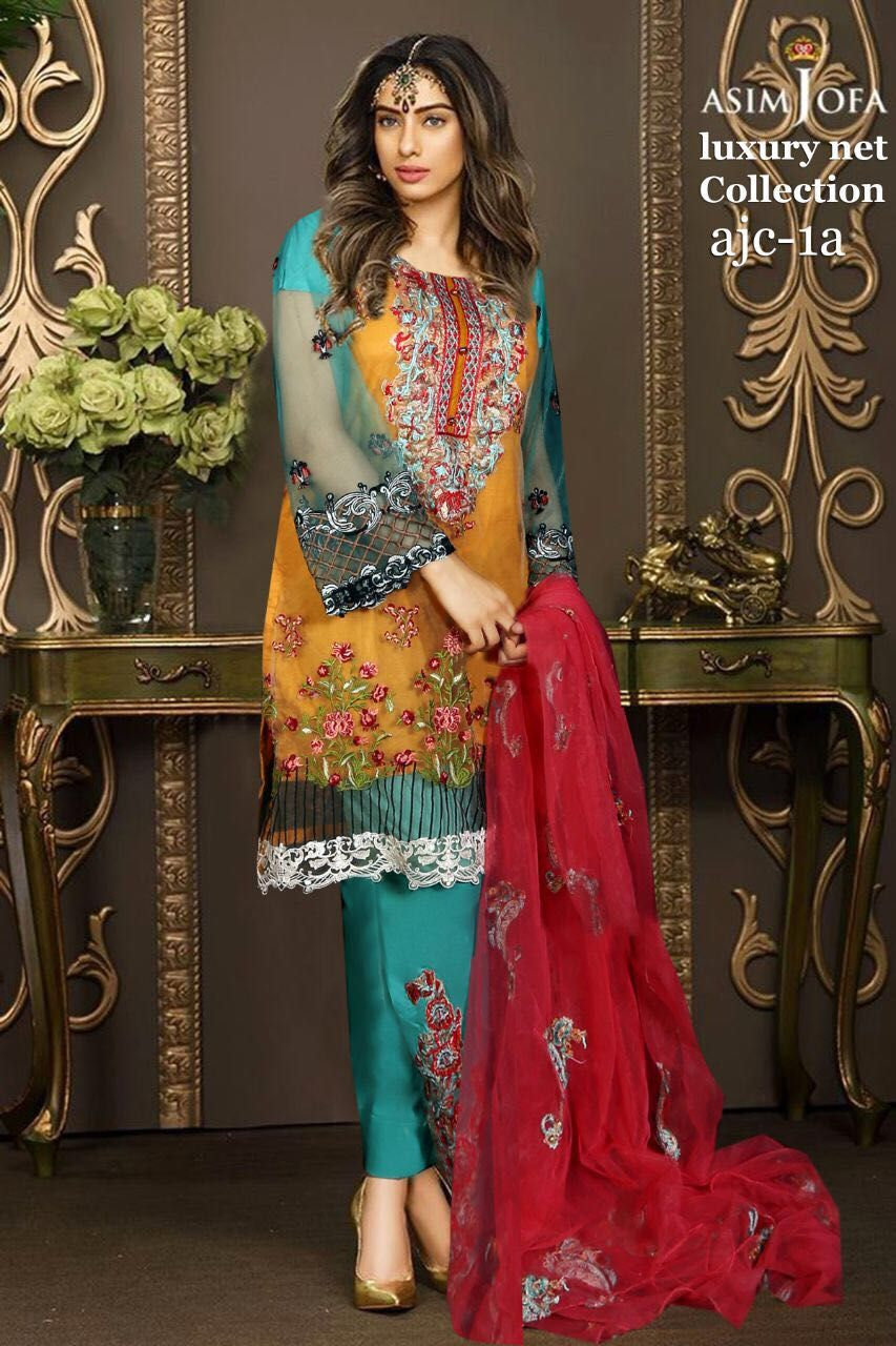 99dfcf63b3 Asim Jofa Eid Collection, Asim Jofa Embroidered Lawn Dress, Asim Jofa Lawn  Replica, Master Quality Replica, Replica, Asim Jofa 2017, Ladies Clothing,  ...