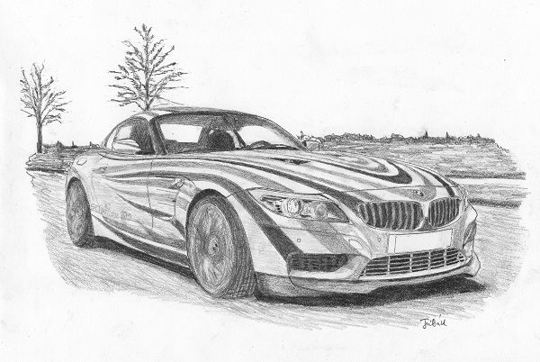 Bmw Sport Car Cardrawing Sportcars Bmw Pencildrawing Car