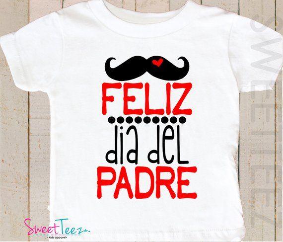 Fathers Day Shirt Spanish Baby Bodysuit Mustache Boy Girl Shirt Feliz Dia Del Padre Papi