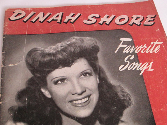 Dinah Shore Favorite Songs Sheet Music Book by NewMoonVintageGoods