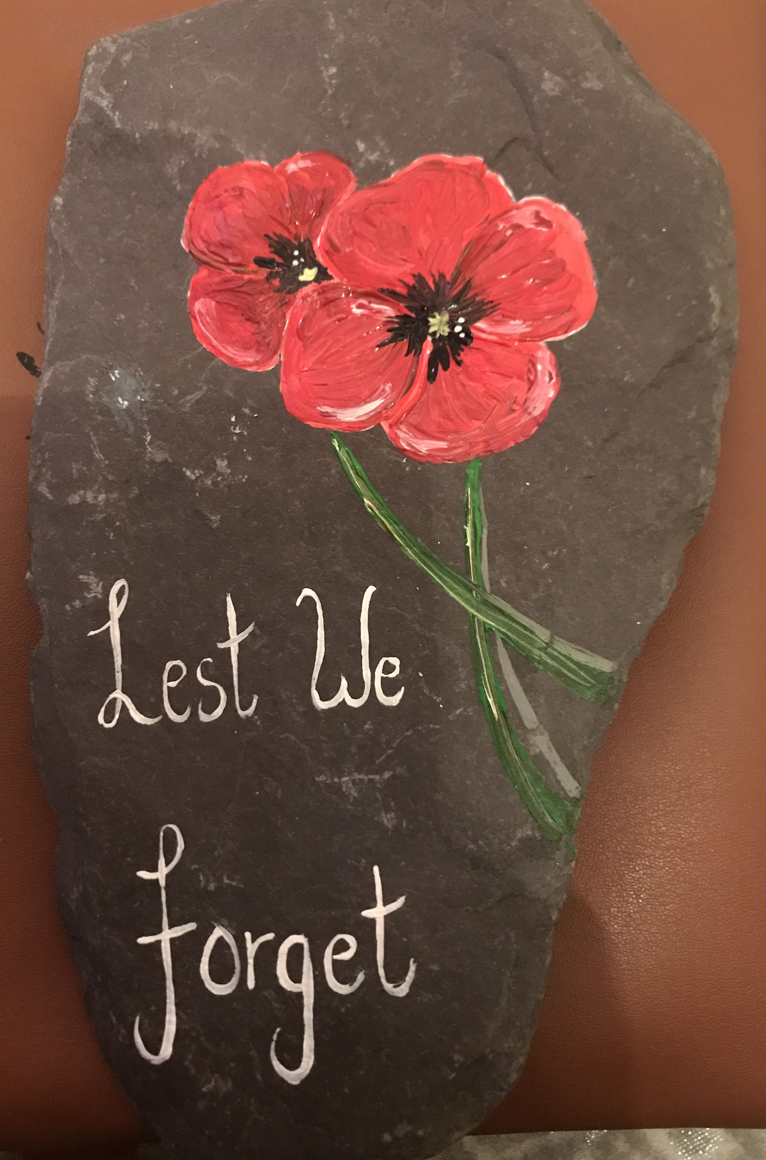 Poppy Rock Painting Lest We Forget Ideas For Craft Pinterest