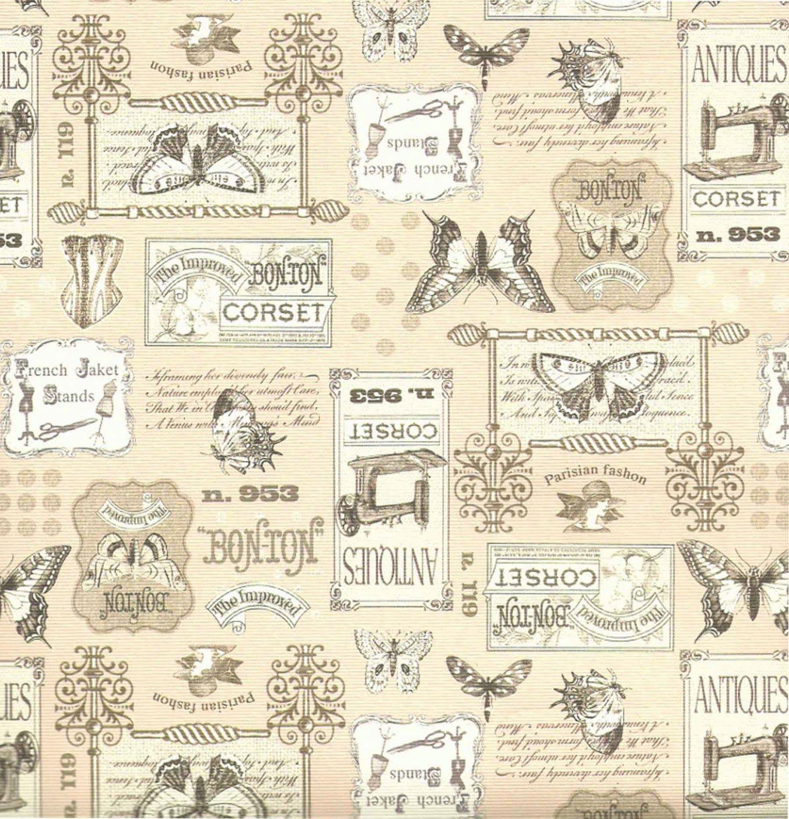 Dise os vintage para imprimir en papel buscar con google - Papel vintage pared ...