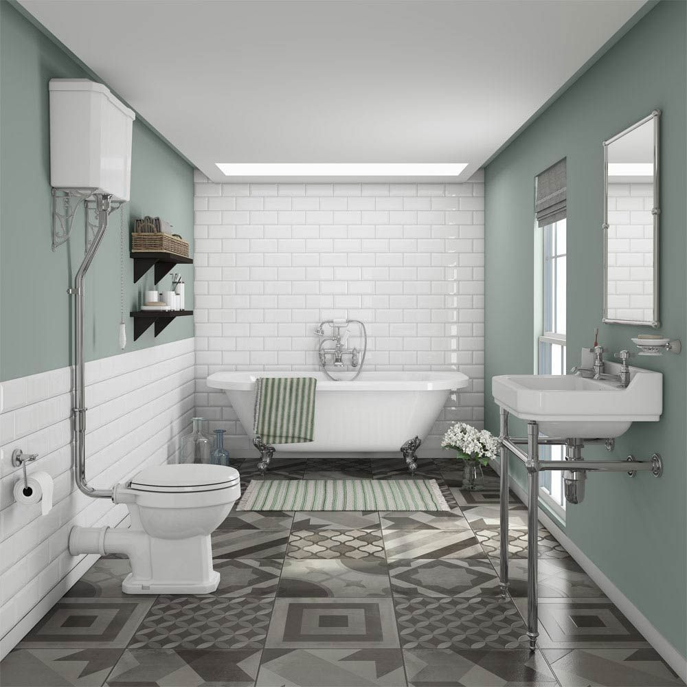 Whatever Your Home S Style You Ll Find The Perfect Bathroom Suite To Suit At B Q With Images Traditional Bathroom Suites Traditional Bathroom Victorian Style Bathroom