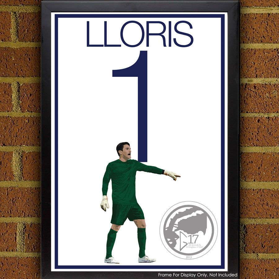 Hugo Lloris Poster - Tottenham Hotspur F.C. Soccer Poster- 8x10, 13x19, poster, art, wall decor, home decor, world cup, coys, spurs by Graphics17 on Etsy