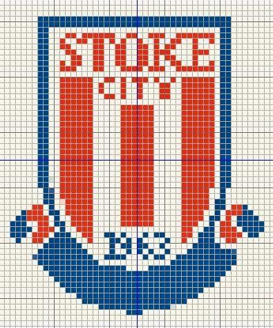 Buzy Bobbins Stoke City Logo Cross Stitch Design Cross