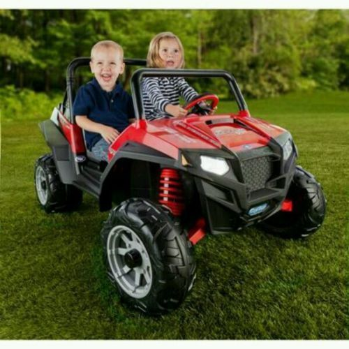 kids electric atv battery powered power wheels 4 wheeler toddler car truck red polaris