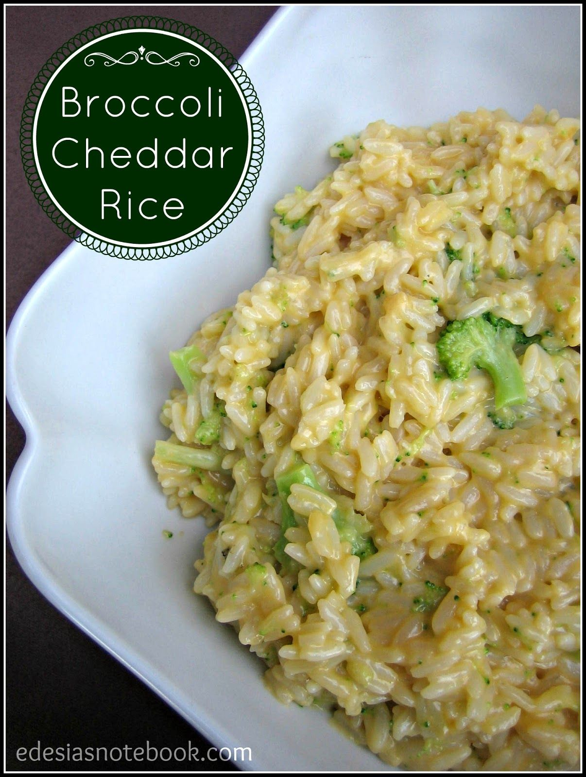 Broccoli Cheddar Rice ~ Edesia's Notebook | Best ...