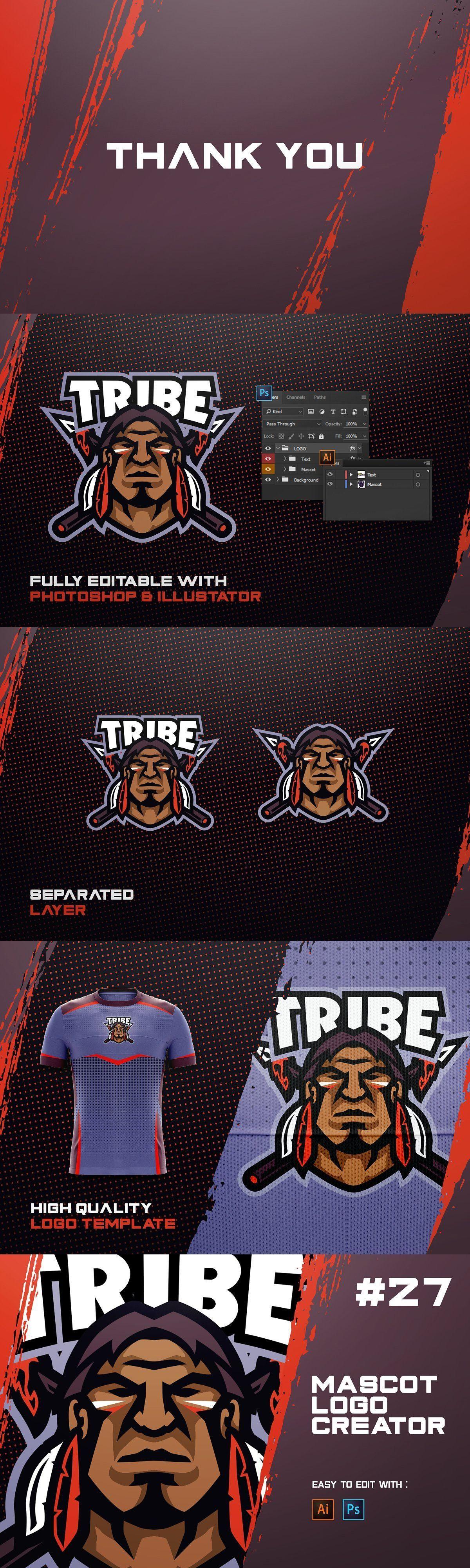 TRIBE! ESports Logo Creator in 2020 Esports logo, The