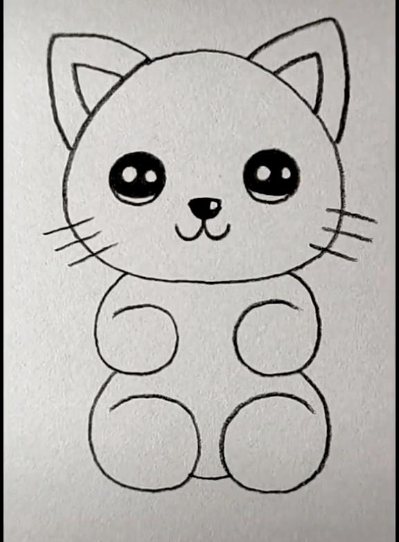 Cat Drawing Easy Dieren Tekenen Dierentekening Leer Tekenen
