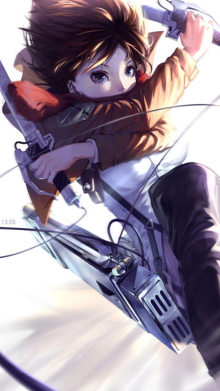 Anime Attack On Titan Mikasa Ackerman Mobile Wallpaper