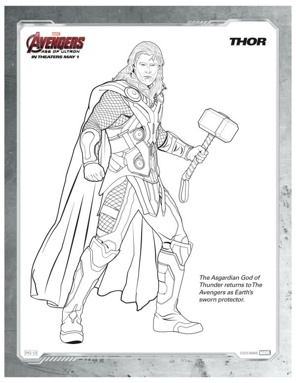 Free Printable Marvel Avengers Thor Coloring Page Mama Likes This Superhero Coloring Avengers Coloring Marvel Coloring