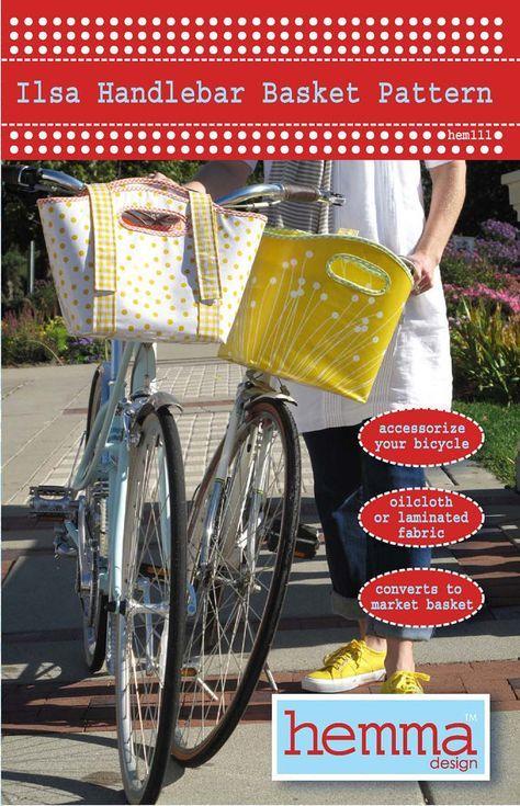 Ilsa Handlebar Basket Pattern | Pinterest | Wachstuch, Körbchen und ...