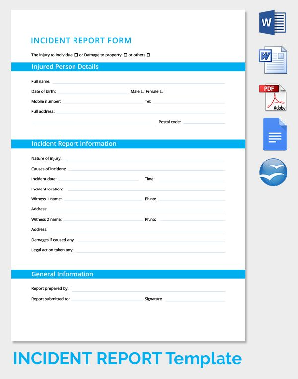 Incident Report Form Freebies Pinterest - incident report pdf