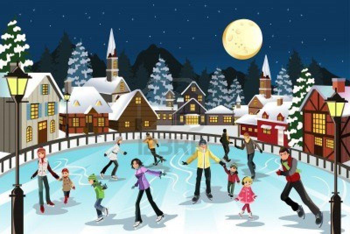 45+ Ice skating rink clipart information