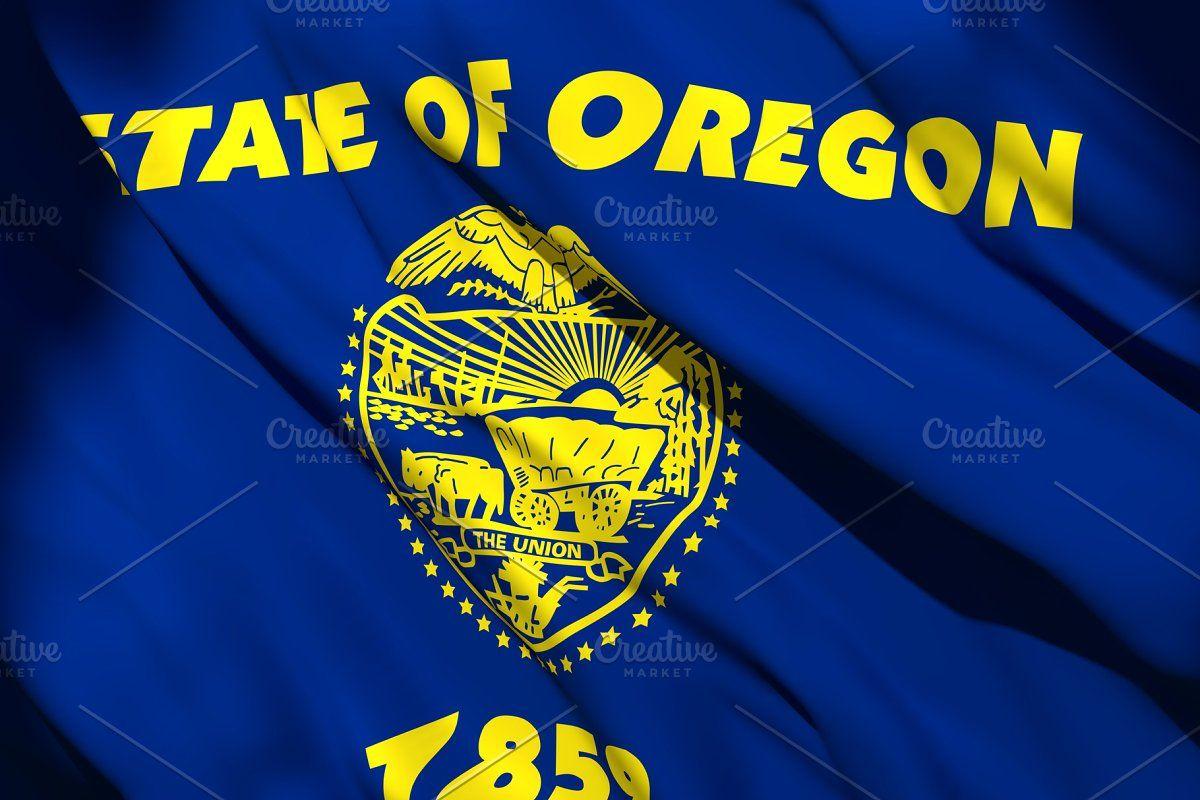 3d Rendering Of Oregon State Flag In 2020 Oregon State Flag State Flags Oregon State