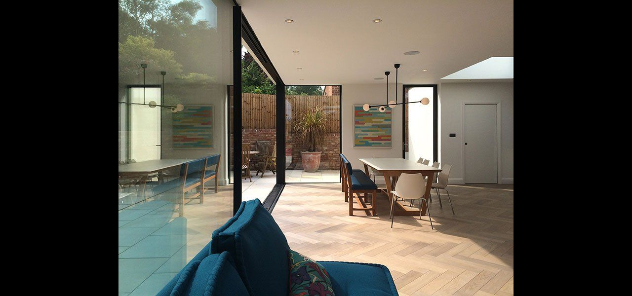 East Finchley | Oversized Slim Framed Sliding Doors to Modern Extension | IQ Glass & East Finchley | Oversized Slim Framed Sliding Doors to Modern ...