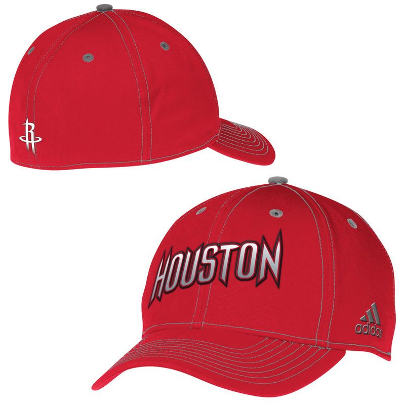 f2e46727853 Houston Rockets adidas Team Nation Structured Flex Hat - Red