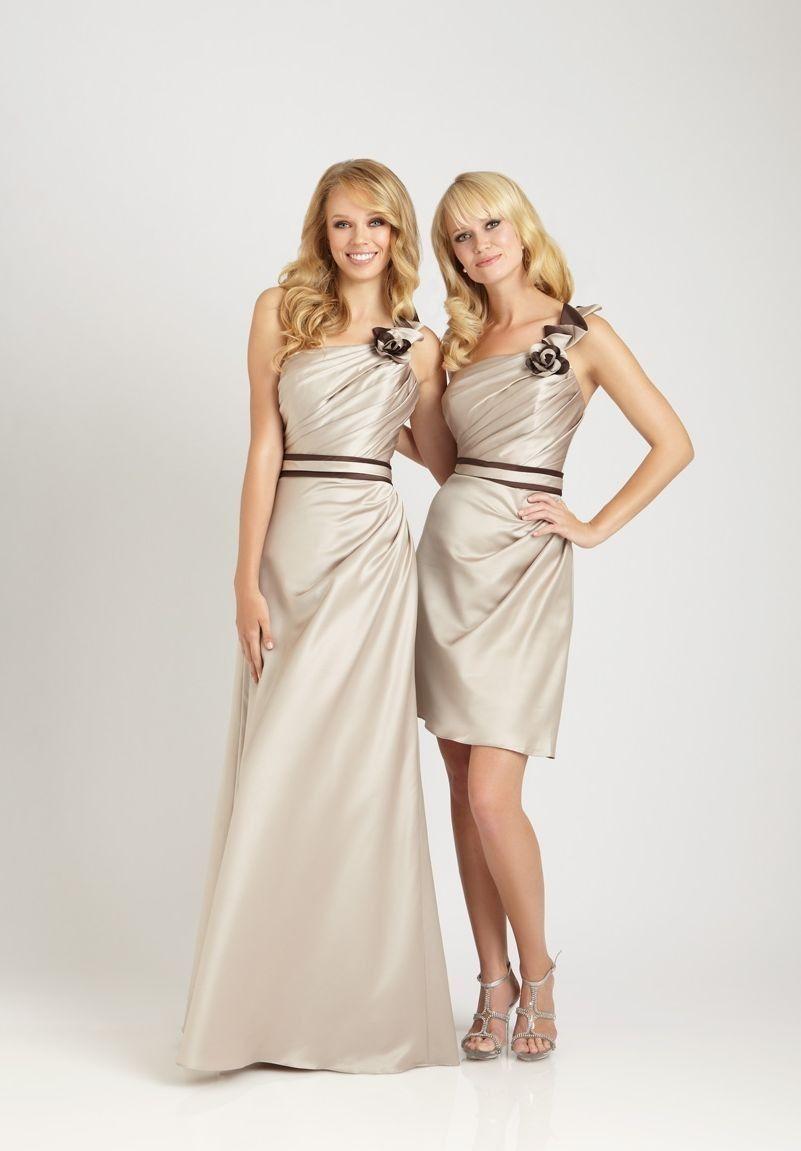 champagne short bridesmaid Dresses | ... short long bridesmaid dress satin strapless a line long bridesmaid