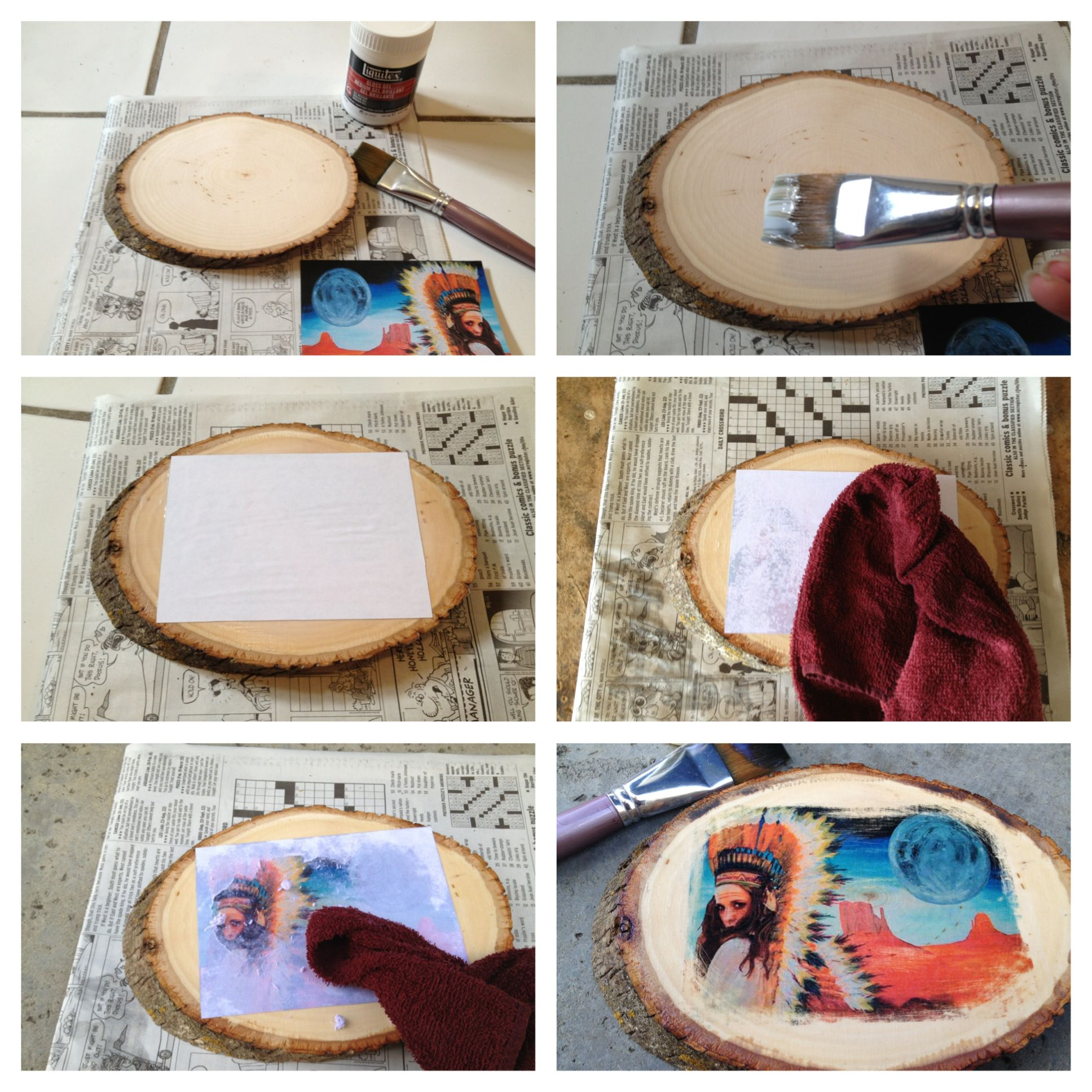 PhotoTransfer on Wood:    Stp 1: Print out image on computer paper (laser printe...