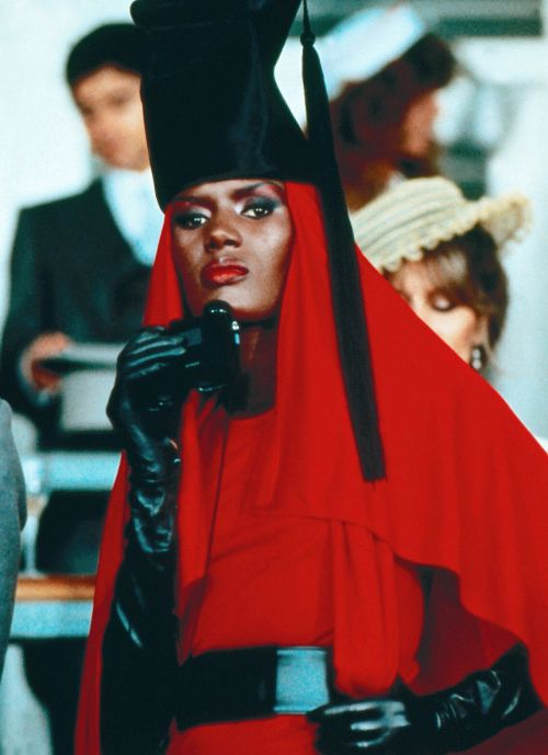27eec63036e8 Grace Jones as May Day in the 14th James Bond film A VIEW TO A KILL (1985).