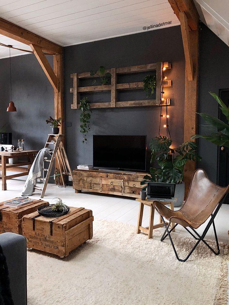 Photo of Zuhause #Zuhause #Wohnzimmer #Palette #wonen #butterflychair Home