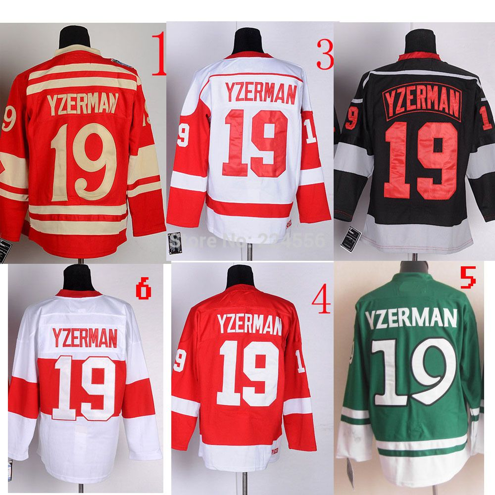 Find More Sports Jerseys Information about CUSTOM 100% Stitched Polyester  Ice Hockey 2014 Winter Classic Detroit 19  Steve Yzerman Jersey Team Color  ... c623d45a8