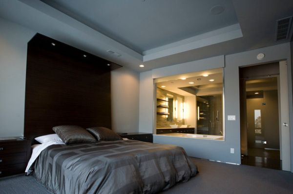 Extended Headboard Design With In Built Recessed Lighting