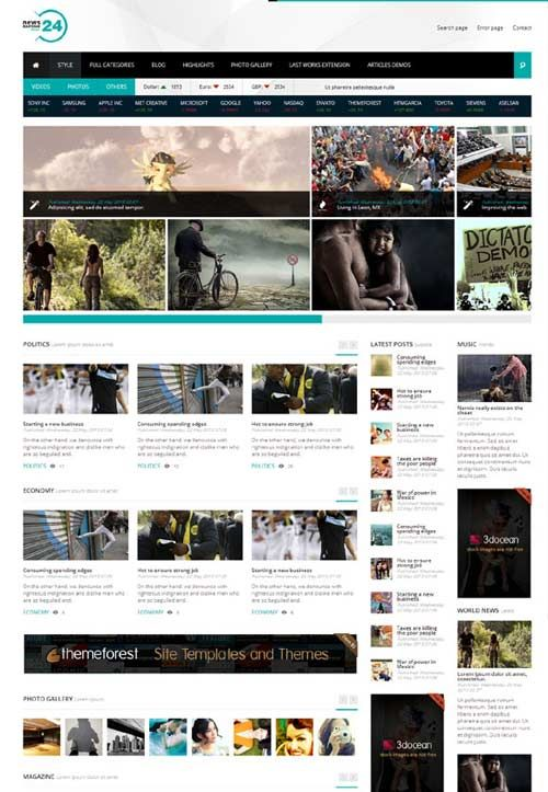 news24 is a clean coded documented general news magazine sports