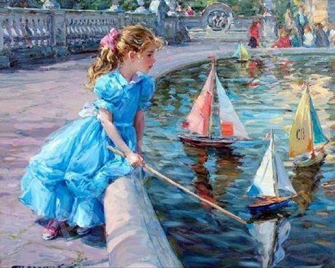 Bambini Dipinti ~ Nei ritratti di bambini razumov mostra una delicatezza e tenerezza