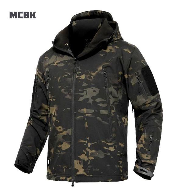 Male Waterproof Jackets Army Camouflage Jacket Military Tactical Soft Shell Coat