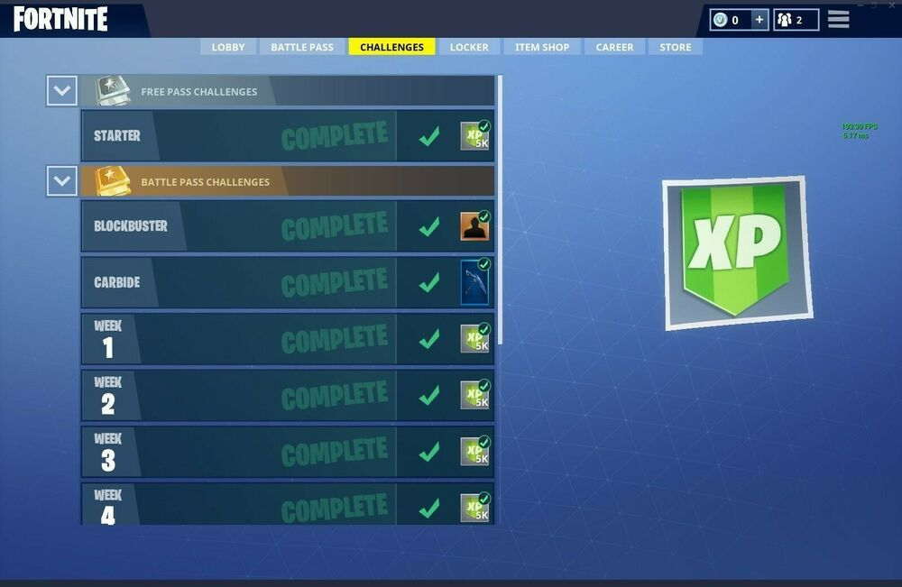 Fortnite Weekly Challenges Completion Recovery Pc Fortnite
