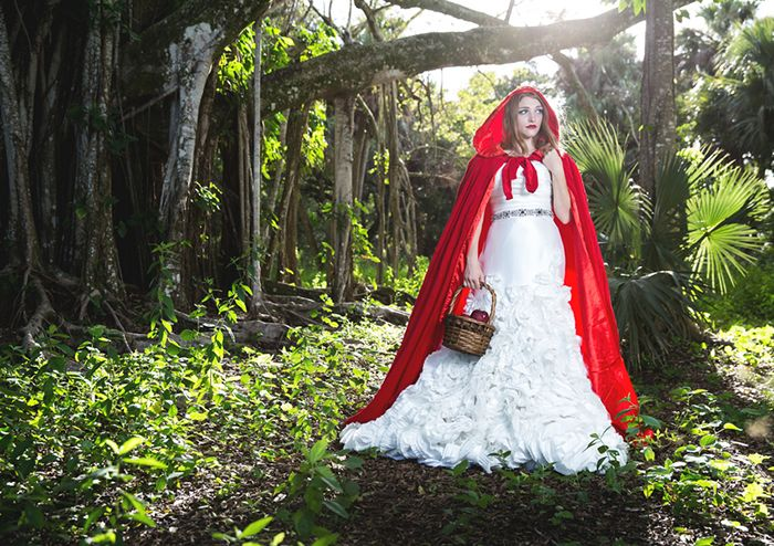 Red Riding Hood Themed Bridal Shoot - Maggie Z Photo