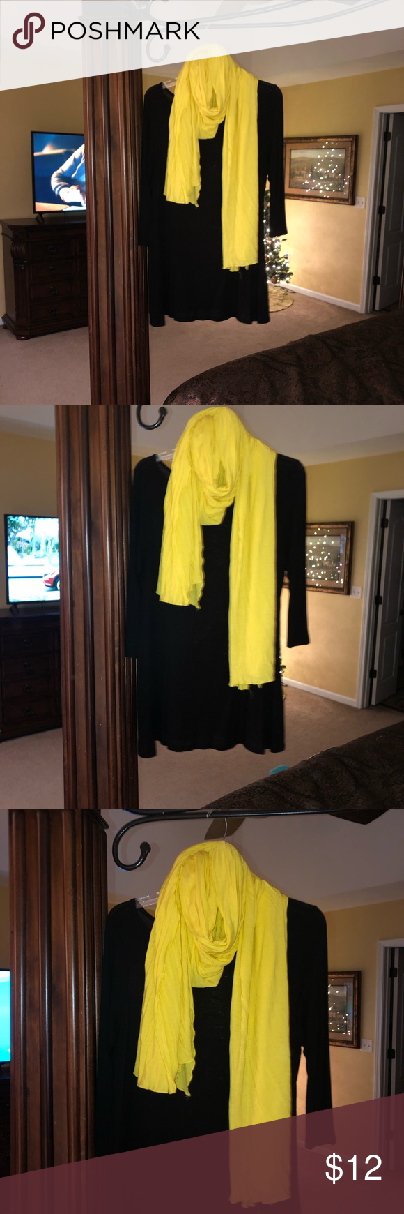 Bright Yellow Scarf EXCELLENT Condition is part of Yellow Home Accessories Shops - Worn once Smoke and pet free home