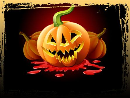 Jack-o-Lantern Free PowerPoint Template PowerPoint Templates - winter powerpoint template