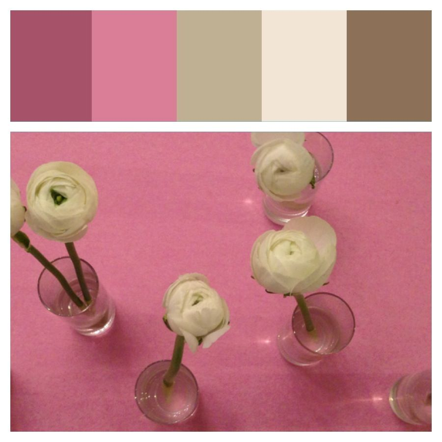 Pink color inspiration for home, arts and crafts