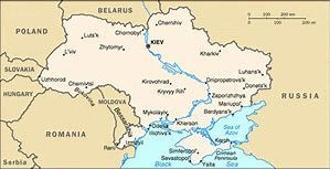 Dnieper River Map on