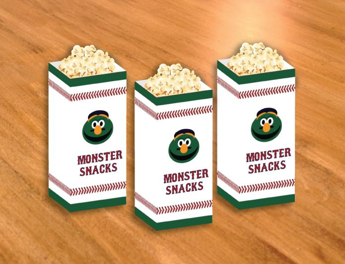 Boston Red Sox Wally The Green Monster Themed Snack Treat Bags