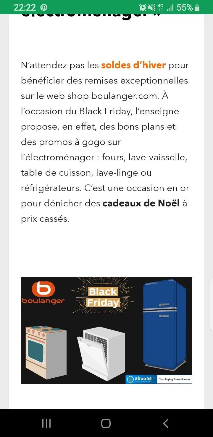 Black Friday Boulanger : les produits high-techs à l ...