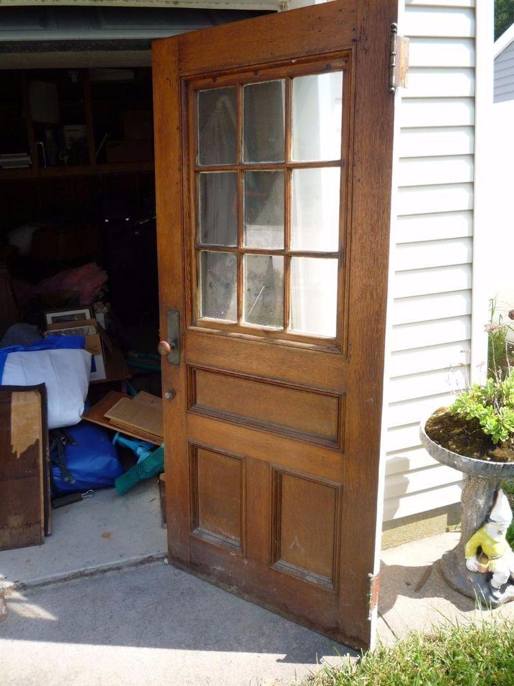 Vintage Oak Exterior Door with hardware