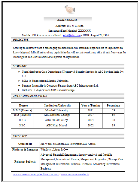 100 cv templates sample template example of beautiful excellent professional - How To Format A Professional Resume