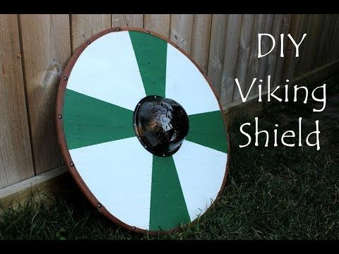 Diy Viking Shield For Kids And Grown Ups Youtube Viking Shield Viking Party Vikings