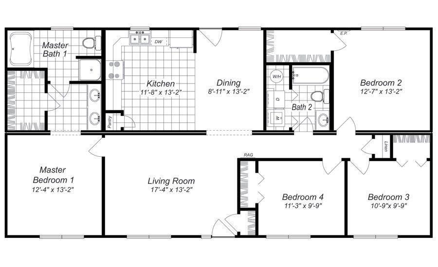 My Boy Fp Jones Back Four Bedroom House Plans Bedroom House Plans 4 Bedroom House Plans